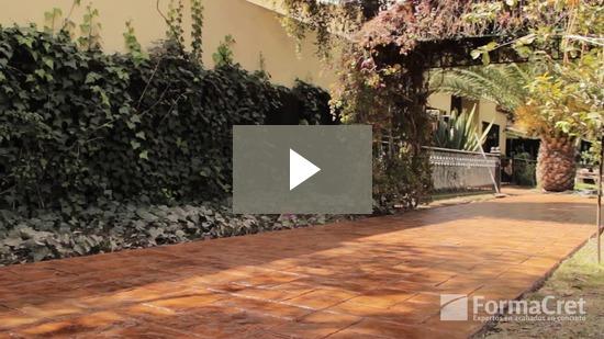Video de concreto estampado
